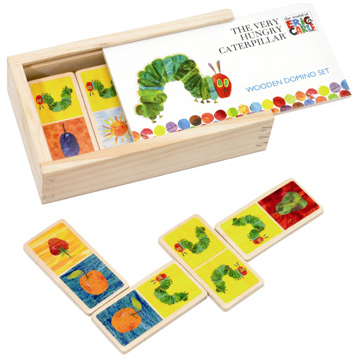 Very Hungry Caterpillar Wooden Dominos