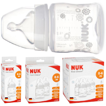 NUK First Choice +  Anti-Colic BPA Free Fireworks Bottle