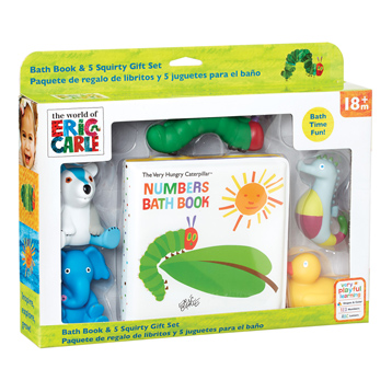 Hungry Caterpillar Bath Book & 5 Squirty Gift Set
